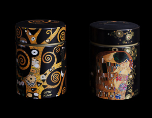 Gustav Klimt set of 2 money boxes : The tree of life & The kiss
