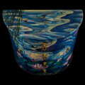 Claude Monet lacquered jewelry box : Nympheas, detail n°1