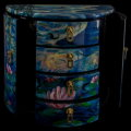 Claude Monet lacquered jewelry box : Nympheas, detail n°4