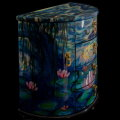 Claude Monet lacquered jewelry box : Nympheas, detail n°7