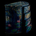 Claude Monet lacquered jewelry box : Nympheas, detail n°8