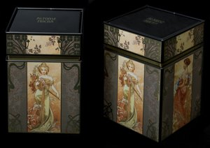 Alfons Mucha set of 2 Tea boxes : Seasons