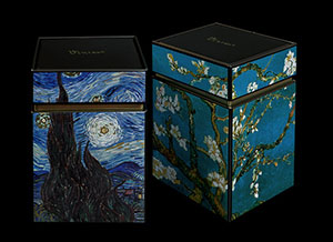 Van Gogh set of 2 Tea boxes : Almond Branches in Bloom, Cafe Terrace at Night