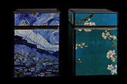 Vincent Van Gogh set of 2 Tea boxes, Almond Branches in Bloom, Starry night