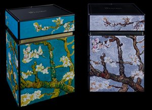 Van Gogh set of 2 Tea boxes : Almond Branches in Bloom