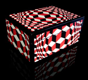 Victor Vasarely Lacquered wood box : VP Cheyt