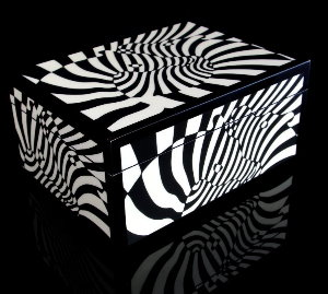 Victor Vasarely Lacquered wood box : Zebras