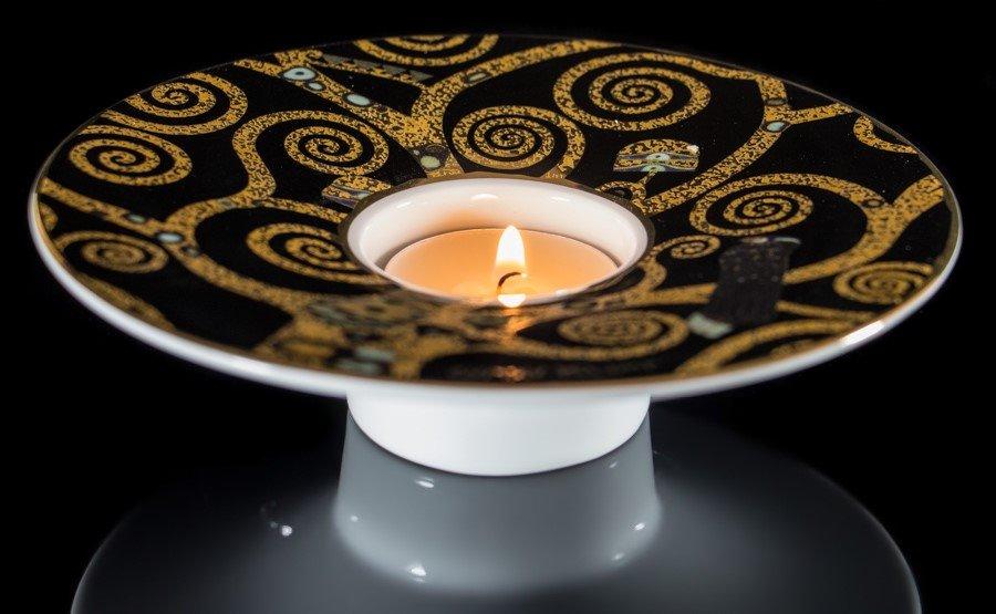 gustav klimt porcelain art light the tree of life with candle