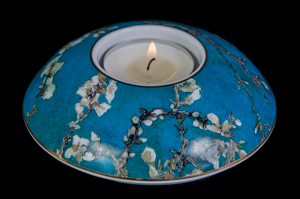 Van Gogh tealight holder in porcelain : Almond Tree
