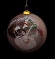 Claude Monet Glass ball christmas ornament, Dancer