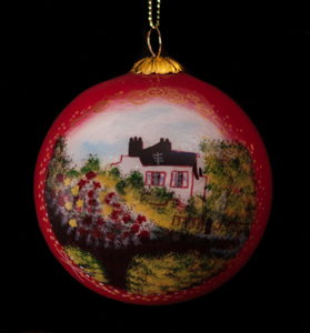 Claude Monet Glass ball christmas ornament, Maison de l'artiste