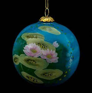 Claude Monet Glass ball christmas ornament, Nympheas (day)