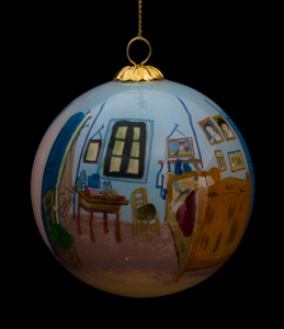 Van Gogh Glass ball christmas ornament, La chambre de Vincent à Arles