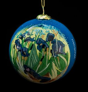 Van Gogh Glass ball christmas ornament, Irises