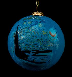 Van Gogh Glass ball christmas ornament, Starry night