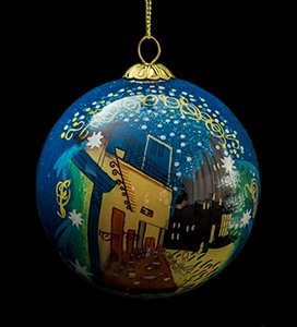 Van Gogh Glass ball christmas ornament, Cafe Terrace at Night