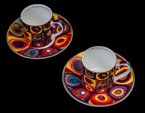 Kandinsky set of 2 coffee cups : Color study