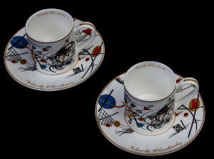 Kandinsky set of 2 coffee cups : Transverse line