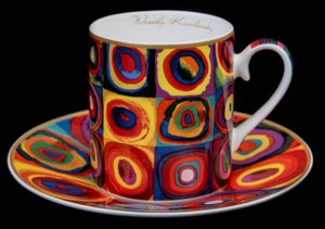 Kandinsky coffee cup : Color study