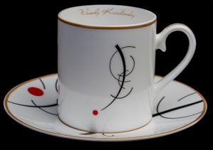 Kandinsky coffee cup : Free curve to the point