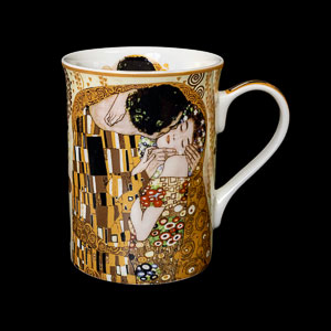 Carmani : Gustav Klimt mug : The kiss (crème)