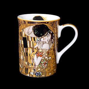 Carmani : Gustav Klimt mug : The kiss (sombre)