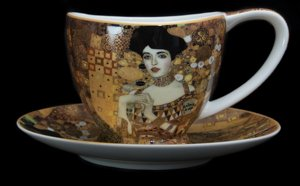 Carmani : Gustav Klimt teacup and saucer : Adèle Bloch