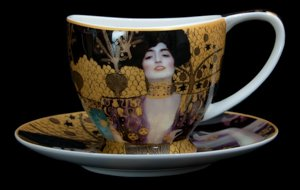 Carmani : Gustav Klimt teacup and saucer : Judith