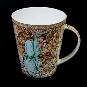 Goebel : Mucha porcelain mug : Winter