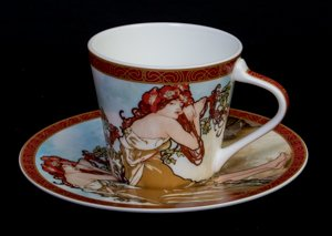 Mucha coffee cup, The summer