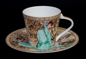 Mucha coffee cup, The winter