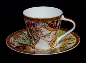 Mucha coffee cup, The spring