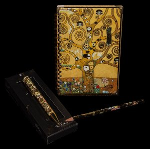 Gustav Klimt notebook, pen, pencil : The tree of life