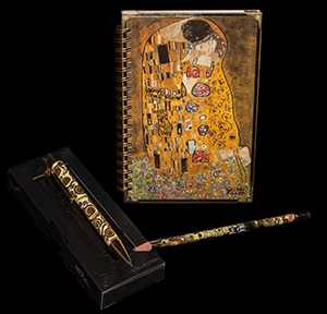 Gustav Klimt notebook, pen, pencil : The kiss