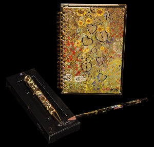 Gustav Klimt notebook, pen, pencil : Sunflowers