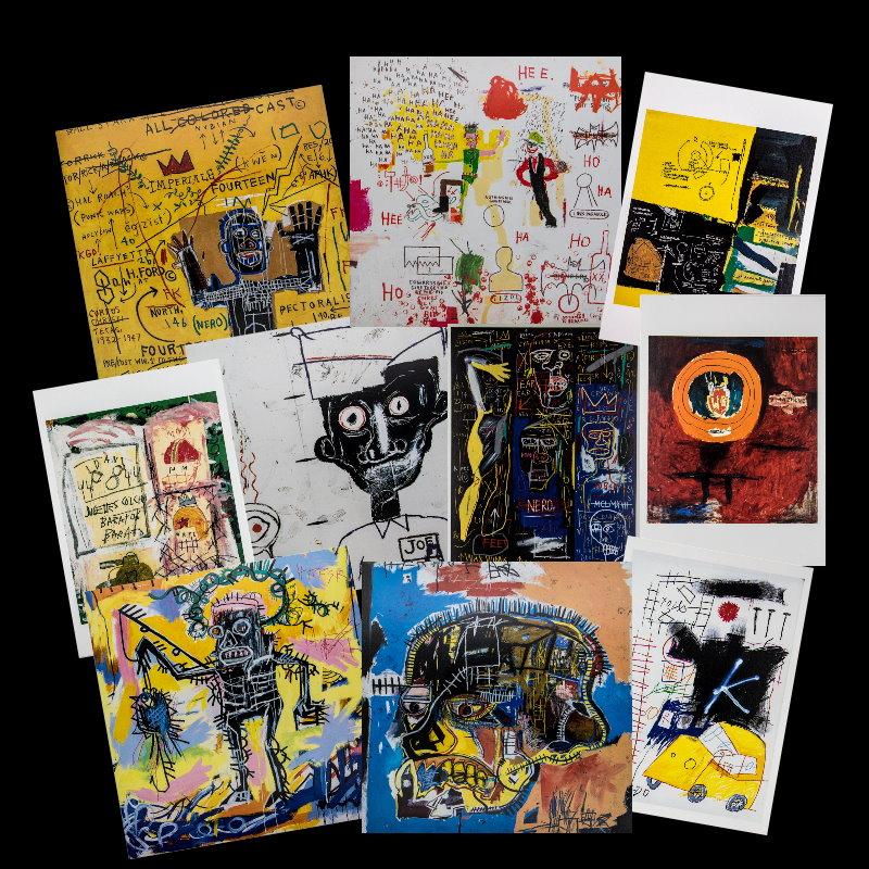 jean michel basquiat   10 artistic postcards