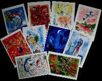 Marc Chagall : Lot de 10 cartes postales PF