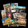 Salvador Dali postcards