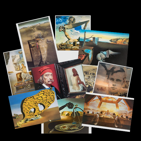 Salvador Dali postcards (n°1)