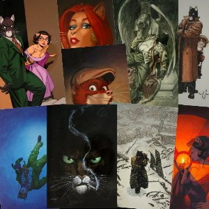 10 postcards of Blacksad of Juanjo Guarnido