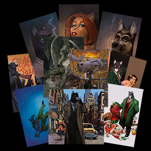 10 Cartes postales Blacksad de Juanjo Guarnido