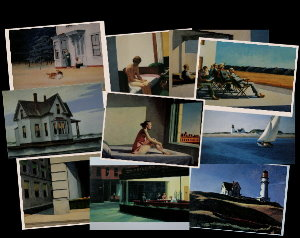 10 Cartes postales Hopper (Lot n°1)
