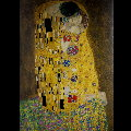 Gustav Klimt double-fold card : The kiss