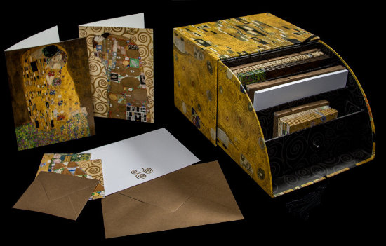 Gustav Klimt Deluxe note card box of 10 postcards (n°1)