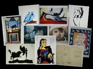 10 postales Picasso (Lote n°1)