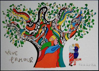 Niki De Saint Phalle Drawings