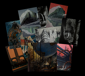 6 postcards of Schuiten