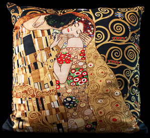 Gustav Klimt cushion : The kiss, Tree of life