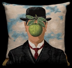 Magritte cushion cover : The Son of Man