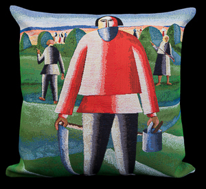 Kasimir Malevitch cushion cover : Haymaking, 1929
